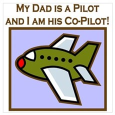 Grandpa's Co-Pilot Airplane Canvas Art